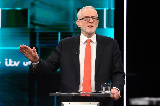 THESE PICTURES ARE AVAILABLE FOR EDITORIAL USE ONLY UNTIL DECEMBER 19TH 2019 Handout photo issued by ITV of Jeremy Corbyn during the Election head-to-head debate on ITV, prior to the General Election on December 12. PA Photo. Picture date: Tuesday November 19, 2019. See PA story POLITICS Election. Photo credit should read: ITV/PA Wire NOTE TO EDITORS: This handout photo may only be used in for editorial reporting purposes for the contemporaneous illustration of events, things or the people in the image or facts mentioned in the caption. Reuse of the picture may require further permission from the copyright holder.