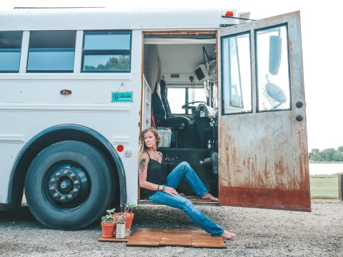 Couple sell everything they own and risk bankruptcy to travel the world on a bus