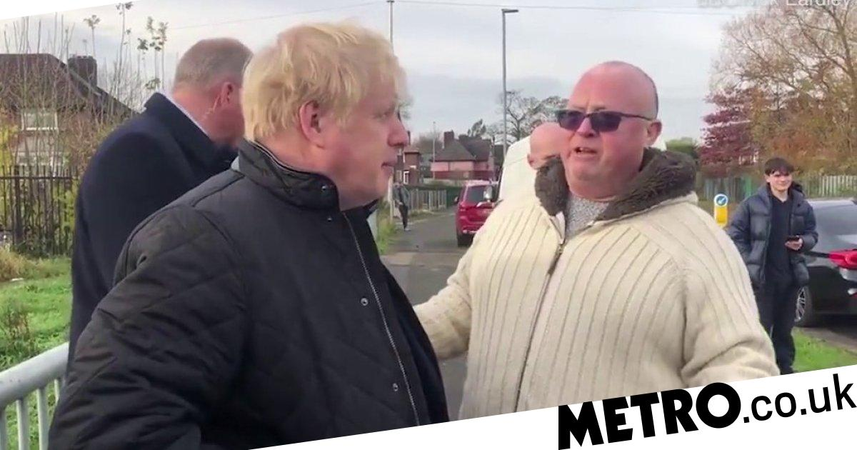 Boris Johnson cornered by man talking about excessive dog poo