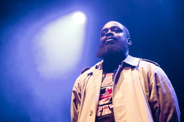 BRIGHTON, ENGLAND - MAY 21: Solo 45 of Boy Better Know performs onstage at The Brighton Dome as a special surprise guest performing feed them to the lions on Day 3 of The Great Escape 2016 on May 21, 2016 in Brighton, England. (Photo by Ollie Millington/Redferns)