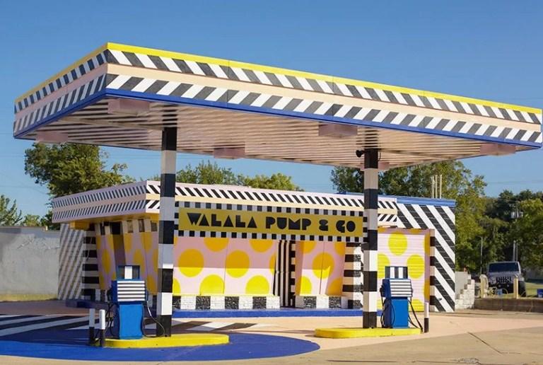 Camille Walala transforms abandoned petrol station
