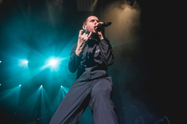 BERLIN, GERMANY - FEBRUARY 16: English singer Mike Skinner from The Streets performs live on stage during a concert at Columbiahalle on February 16, 2019 in Berlin, Germany. (Photo by Gina Wetzler/Redferns)