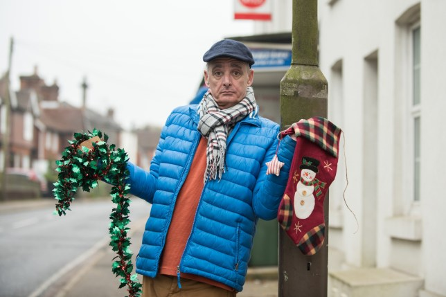 Patrick Gillan pictured in Pembury High Street, he is one of many residents that are angry and bemused after Kent County Council saying there will be no Christmas decorations on the lamp posts in the High Street this year due to health and safety reasons.