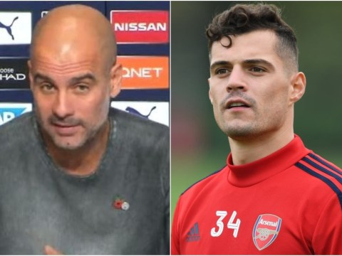 Pep Guardiola 'understands' Granit Xhaka reaction after abuse from Arsenal fans