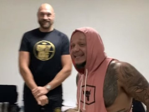 Rey Mysterio unmasked during Tyson Fury meeting before WWE Crown Jewel
