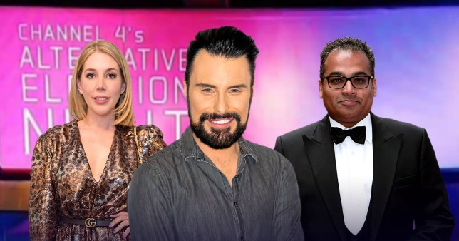 Rylan Clark-Neal joins Krishnan Guru-Murphy for Channel 4's election night coverage