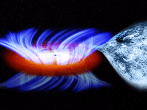 Here's what would happen if a black hole smashed into Earth