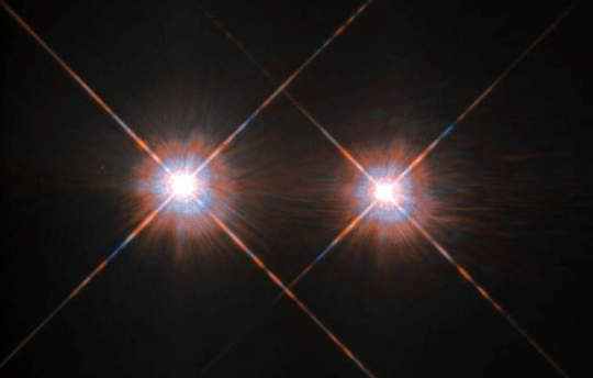 Illustration of a binary star system (image: Nasa)