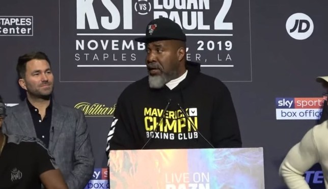 Logan Paul's trainer Shannon Briggs was irritated by his drugs ban being referenced by KSI's trainer