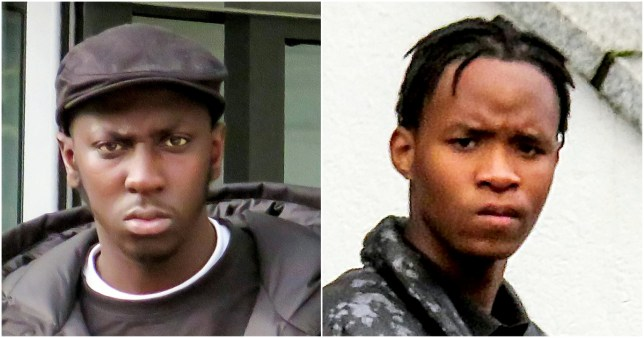 Mahtarr Njie-Morgan (left) and Kieran Garricks-Ferguson were both spared jail (Picture: SWNS)