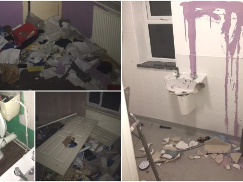 Family forced out of flooded home return to find someone broke in and had a party