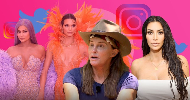Kylie and Kendall Jenner, Caitlyn Jenner and Kim Kardashian