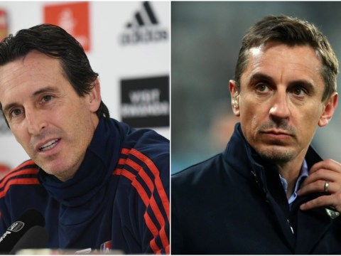 Gary Neville sends message to Arsenal fans who want struggling manager Unai Emery sacked