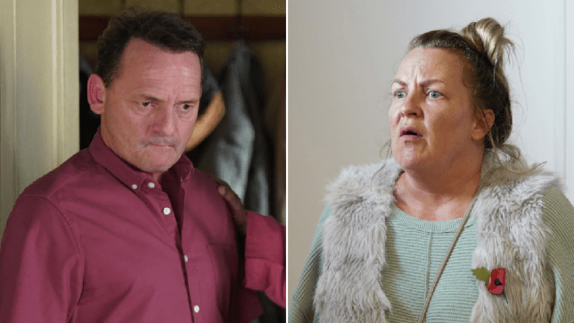 Billy Mitchell and Karen Taylor in EastEnders