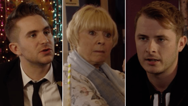 Callum Highway, Pam Coker and Ben Mitchell in EastEnders