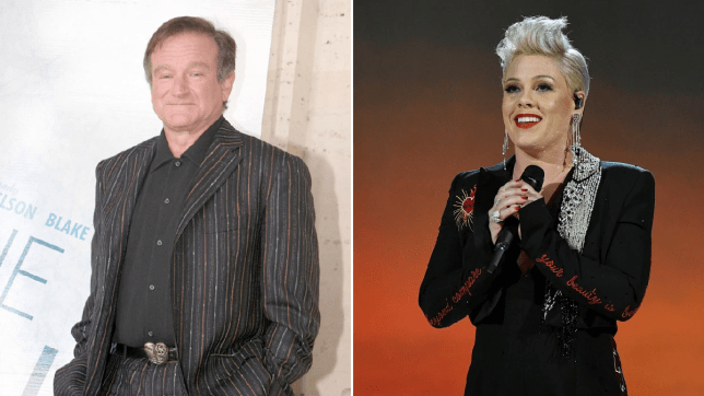 Pink and Robin Williams