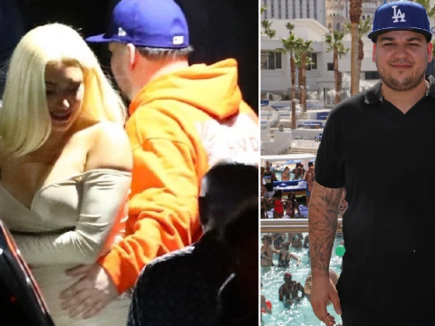 Rob Kardashian gets handsy with Kylie Jenner's best friend Stassi as he makes first public appearance in months
