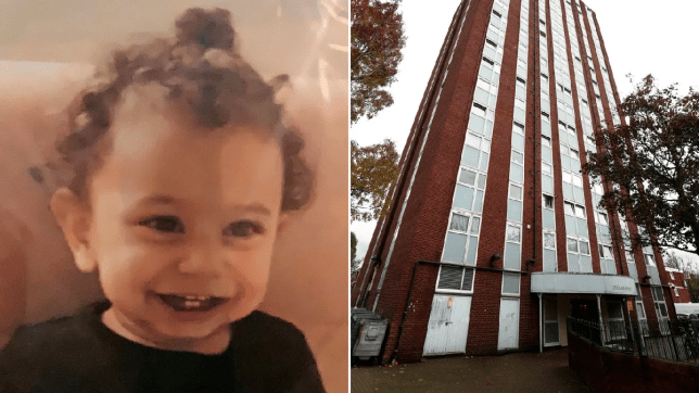 Pictured: Baby who fell from 'faulty' tower block window on ninth floor
