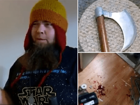 Criminal found out the hard way not to burgle a weapons collector with a huge ax