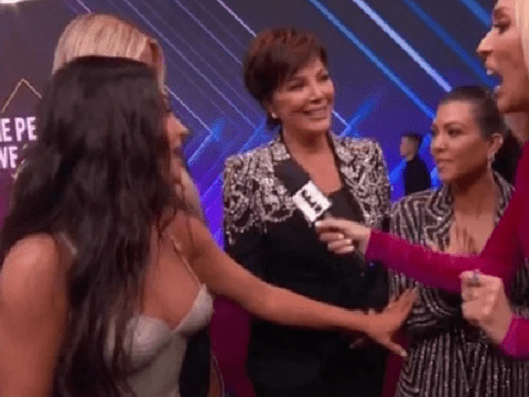 Kim Kardashian cuts off Kourtney at People's Choice Awards 2019 amid feud rumours and it's really awkward