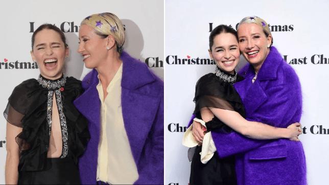 Emma Thompson and Emilia Clarke at Last Christmas premiere