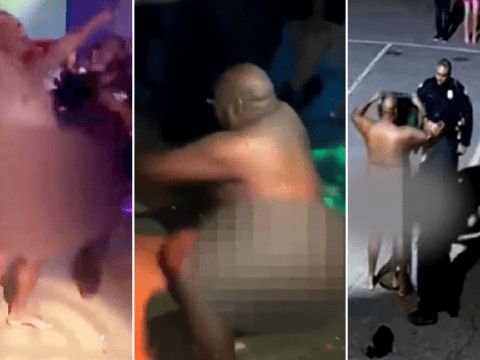 'Drunk' police officer suspended after he was filmed dancing naked in nightclub