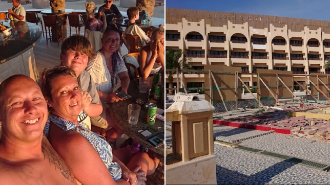 Families arrive at holiday hotel to discover it's not been built yet