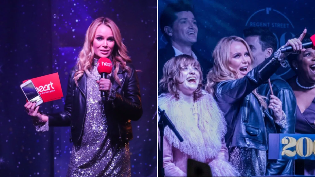 Amanda Holden sparkles as she switches on Christmas lights at London's Regent Street