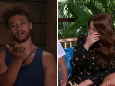 Emily Atack is a giggling and blushing mess after flirting with I'm A Celebrity's Myles Stephenson