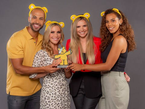 Nadine Coyle jokes Pudsey trophy 'can travel' as she raises £10,000 for Children in Need before I'm a Celeb stint