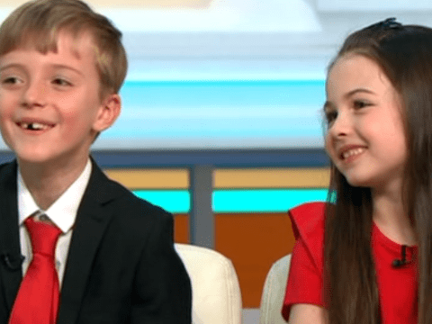 Mini Piers Morgan and Susanna Reid steal our hearts as they give OG Good Morning Britain presenters run for their money