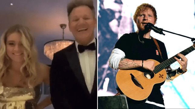 Gordon Ramsay hired Ed Sheeran for daughter's 18th birthday bash and 'spared no expense'