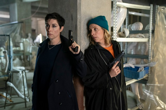 First look at Mel Giedroyc and Sue Perkins as useless contract killers in new comedy Hitmen