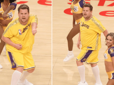 James Corden cheerleading with LA Lakers is the Bring It On sequel we needed