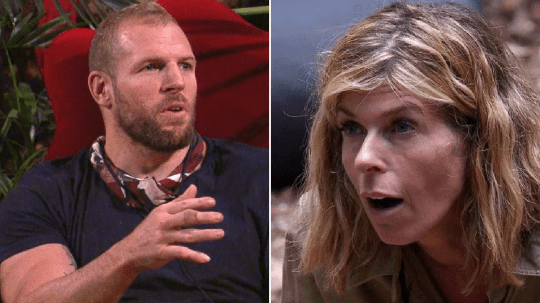 I'm A Celebrity Kate Garraway and James Haskell argue