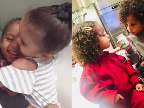 Kim Kardashian wishes niece Dream happy birthday by proving she and Saint are the cutest cousins