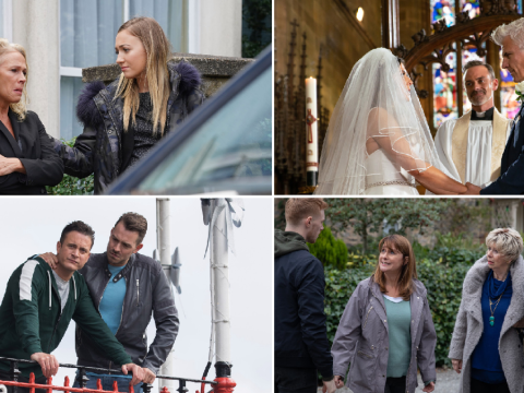 12 soap spoiler pictures: EastEnders funeral revenge, Coronation Street wedding disaster, Emmerdale scare, Hollyoaks health fears