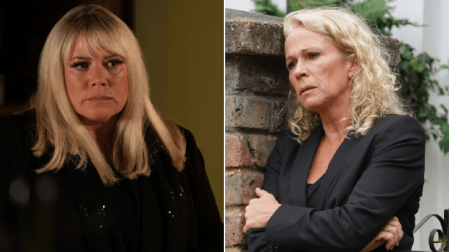 Lisa Fowler and Sharon Mitchell in EastEnders