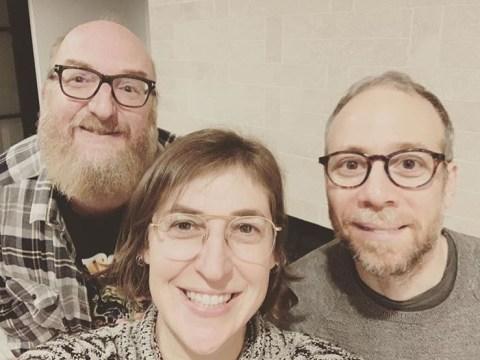 The Big Bang Theory's Mayim Bialik reunites with Kev Sussman and Brian Posehn so fans are all cracking the same Bert joke