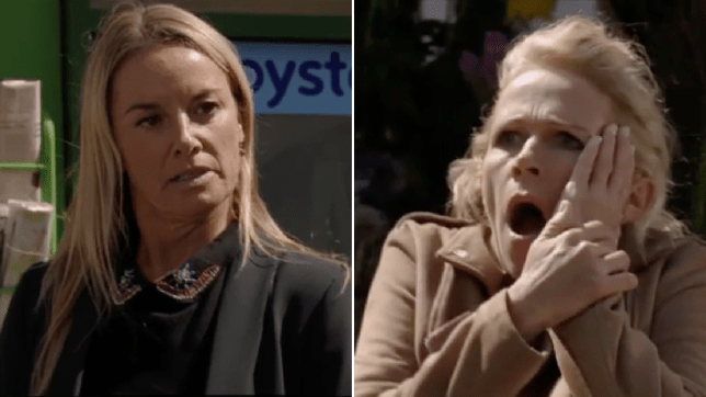 Mel Owen and Lisa Fowler in EastEnders