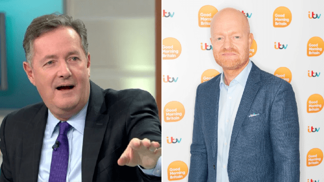 EastEnders star Jake Wood saves a dying chicken with Piers Morgan's face