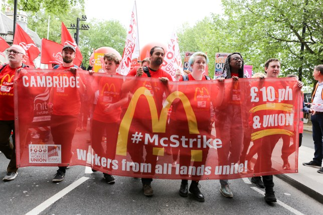 McDonald's staff to go on strike today in protest at low wages