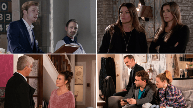 Robert, Billy, Michelle, Carla, Robert, Vicki, Paul and Gemma in Coronation Street