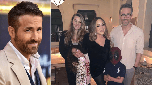 Ryan Reynolds has the best response to sweep snap of wife Blake Lively, Mariah Carey and her kids