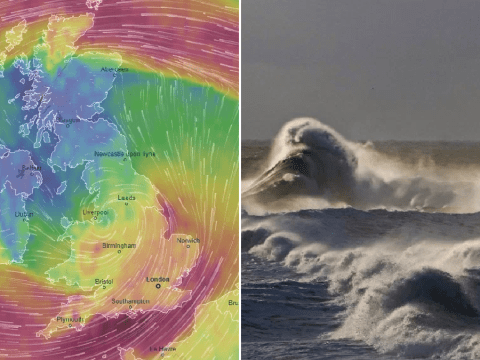 'Flying debris' warning as 80mph winds and torrential rain set to batter UK