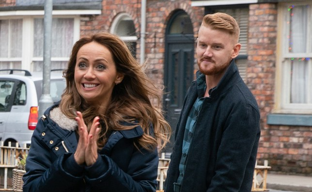 Maria Connor and Gary Windass in Coronation Street