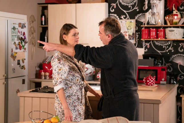 Steve and Tracy in Coronation Street