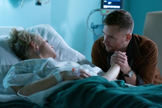 Kellie Bright as Linda Carter and Danny-Boy Hatchard as Lee Carter in EastEnders