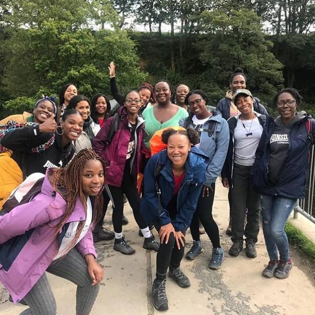 Black girls hike group
