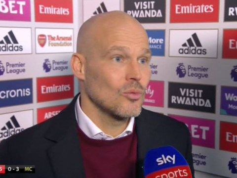 Freddie Ljungberg unhappy with Mesut Ozil after Arsenal's defeat to Man City